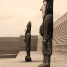 Picture - Large statues at Chan Chan in the Moche Valley near Trujillo.