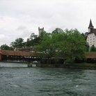 Picture - The Kapellbrucke - the icon of Lucerne.
