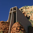 Picture - Chapel of the Holy Cross built into the red rocks, Sedona.