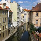 Picture - Canal from Charles Bridge in Prague.