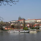 Picture - Charles Bridge and Hradcany in Prague.