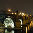 Picture - Karluv Most, Charles Bridge in Prague at night.