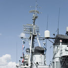 Picture - Historic USS Cassin Young WWII destroyer operated by the National Park Service in the Boston Harbor, MA.