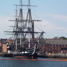 Picture - Looking across Boston Harbor to the USS Constitution.
