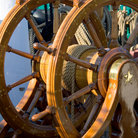 Picture - USS Constitution Steering Wheel.