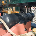Picture - Cannon in the civil war ship USS Constitution, Boston.