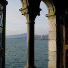 Picture - Window in Chateau de Chillon looking out onto Geneva lake.