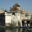 Picture - The imposing Chateau de Chillon.