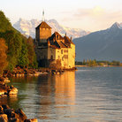 Picture - Mountains behind Chillon Castle.