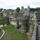 Picture - The old castle at Fougeres.