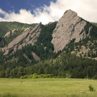 Picture - Sheer cliff walls in Chautauqua Park near Boulder.