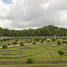 Picture - View over the garden of Chenonceau Castle.