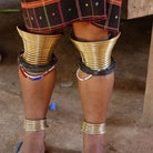 Picture - Leg ornaments on a woman near Chiang Mai.