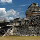 "Picture - Caracol or ""Snail"" at Chichen Itza used as an observatory by the Maya."