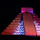 Picture - The light show at Chichen Itza.