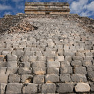 Picture - Steps at the ruins of Chichén Itzá.