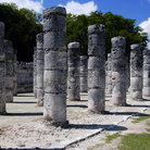 Picture - Ancient columns at Chichén Itzá.