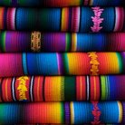 Picture - Colorful blankets at a market in Chichicastenango.