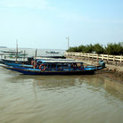 Picture - Boat on the Chilika lagoon.