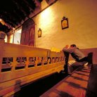 Picture - Interior of a church in Chimayo.