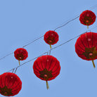 Picture - Red Chinese Lanterns in Chinatown, San Francisco.