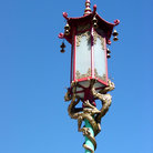 Picture - Decorative lamp line Grant Avenue in Chinatown, San Francisco.