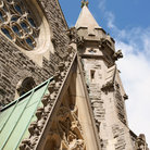 Picture - Architectural detail at the Christ Church Cathedral in Montreal.