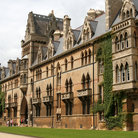 Picture - View of Christ Church College in Oxford.