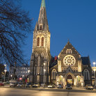 Picture - Evening view of the Christchurch Cathedral.