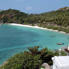 Picture - View over Thian Og Bay at Koh Tao island.