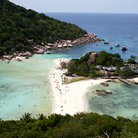 Picture - View over the beach from the top of Koh Tao Island.