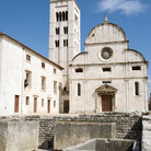 Picture - St. Mary's church and Roman ruins in Zadar.