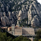 Picture - Overview of the Basilica of the Monastery de Montserrat.