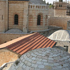 Picture - Rooftops at the Church of Dormition in Jerusalem.