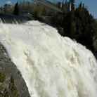 Picture - Water crashing over the falls at Motmorency.