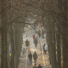 Picture - Tree lined walk at Pere-lachaise Cemetery in Paris.