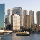 Picture - High rises around Circular Quay in Sydney.