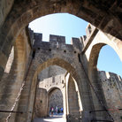 Picture - Entrance to the medieval city of Carcassonne.
