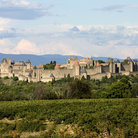 Picture - Overview of the walled city of Carcassonne.