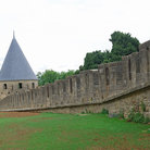 Picture - The ancient town walls of Carcassonne.