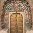 Picture - Doorway of the City Palace of Jaipur.