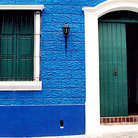 Picture - Brightly painted building in Colonial Quarter of Ciudad Bolivar.