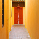 Picture - Yellow back alley of an oriental building in Clarke Quay.
