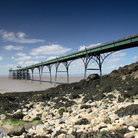 Picture - Clevedon pier seen from the shoreline.