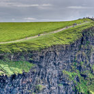 Picture - Walking trail at the top of the Cliffs of Moher.