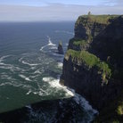 Picture - View from atop the cliffs at Moher.