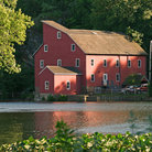 Picture - Red Mill in Clinton, New Jersey.