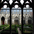 Picture - Cathedral cloister in Utrecht.
