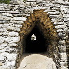 Picture - Stone entrance at the Coba ruins.