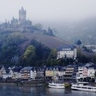 Picture - Castle at Cochem, situated on the Mosel River near the Rhine River.